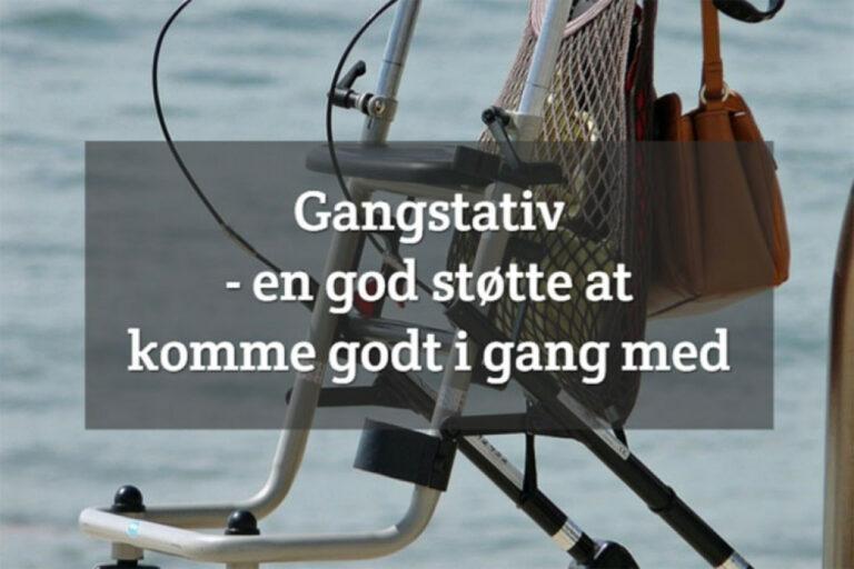 Gangstativ – en god støtte at komme godt i gang med